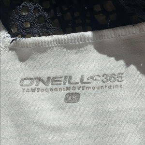 O'Neill Tops - O'Neill Athletic Halter Back Lace Striped Tank Top